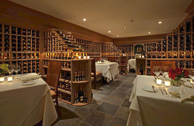 Wine Cellar fine dining at Mountain View Grand Resort.
