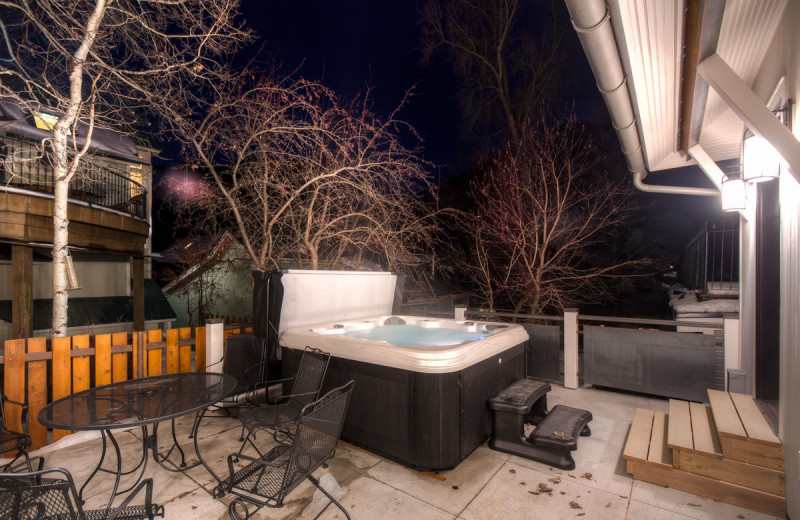 Rental hot tub at Accommodations in Telluride.