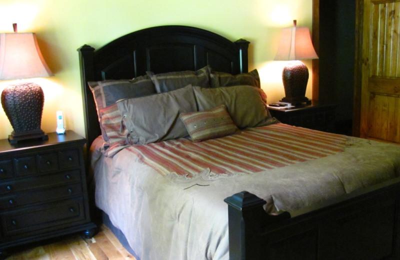 Rental bedroom at Highland Rim Retreats.