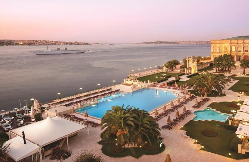 Outdoor pool at Ciragan Palace Hotel.