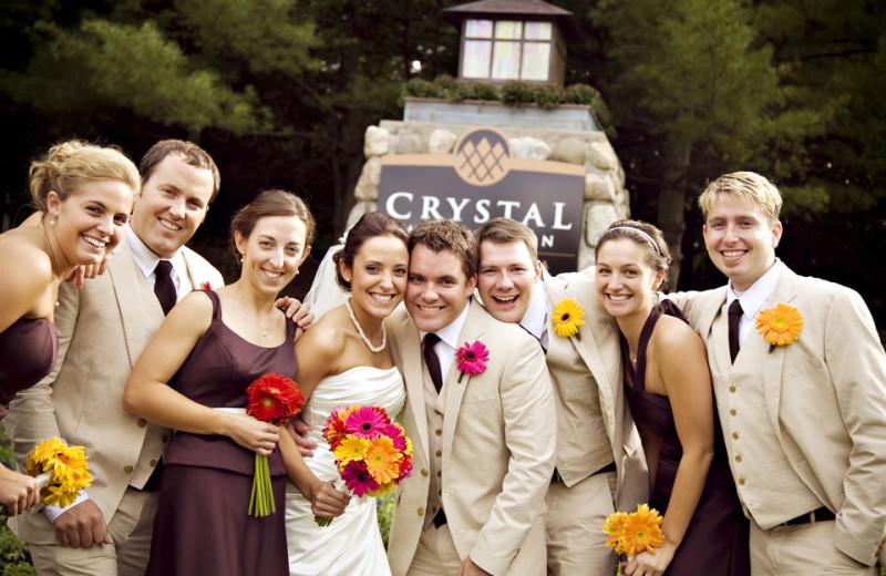 Wedding at Crystal Mountain Resort and Spa.