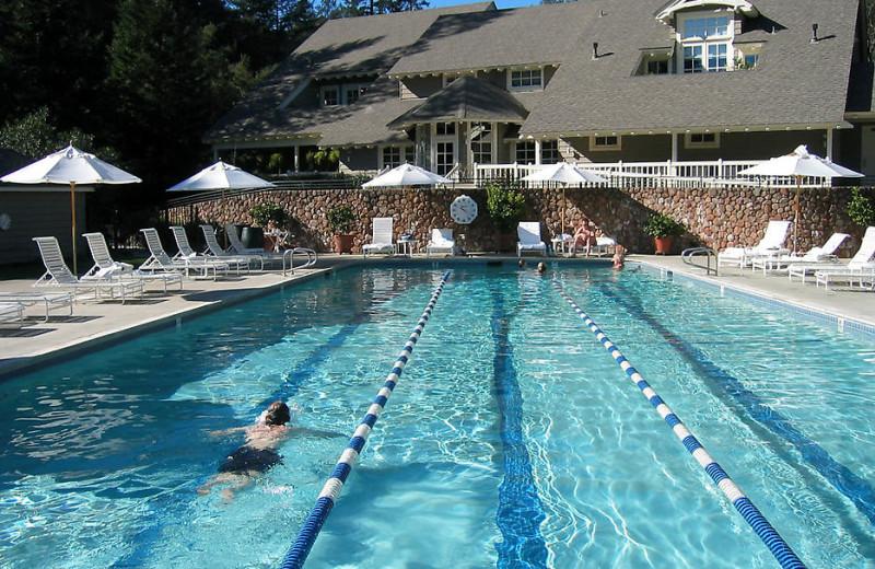 Outdoor pool at Meadowood Napa Valley.