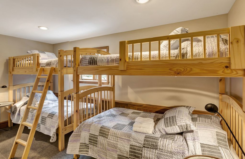 Rental bunk beds at Killington Rental Associates.