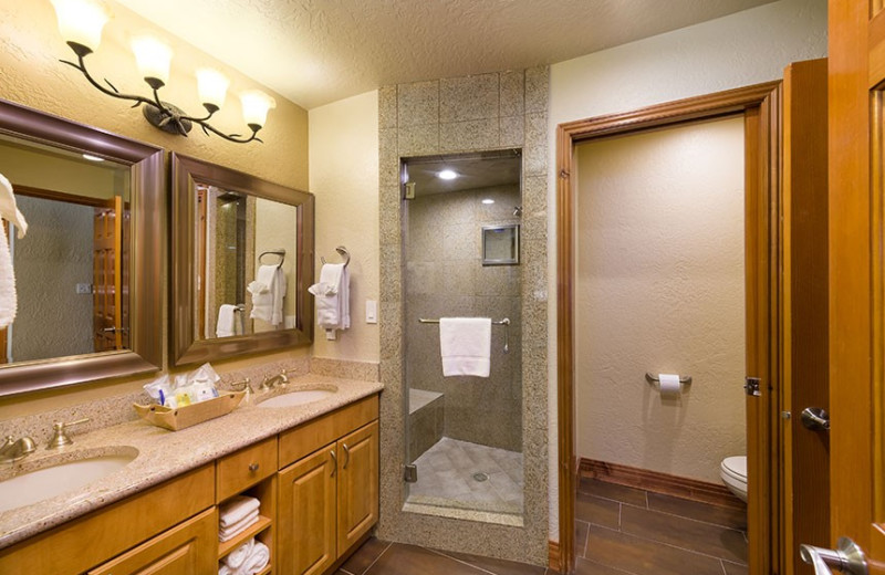 Guest bathroom at Westgate Park City Resort & Spa.