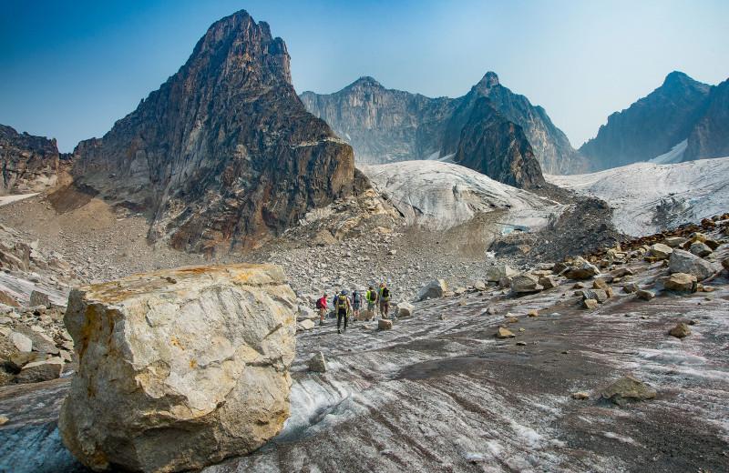 Mountain hiking at Bugaboos Lodge.