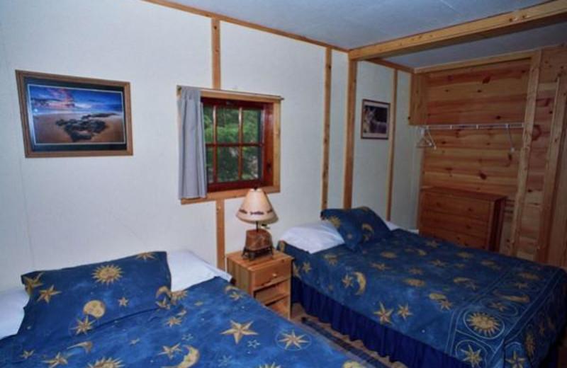 Cabin Bedroom at Lady Bug Lodge