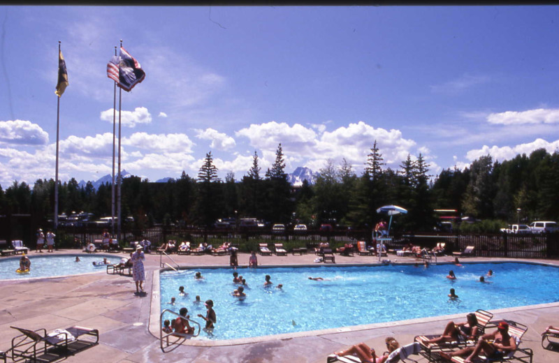 Outdoor pool at Jackson Lake Lodge.