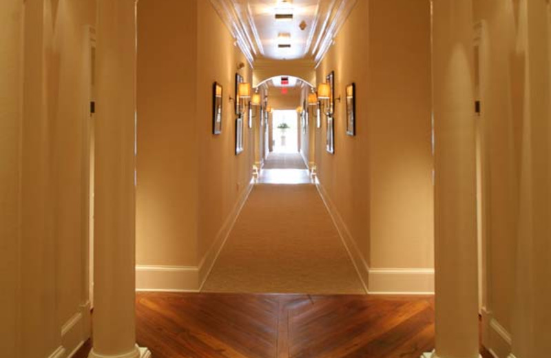 Guest hallway at James Madison Inn.