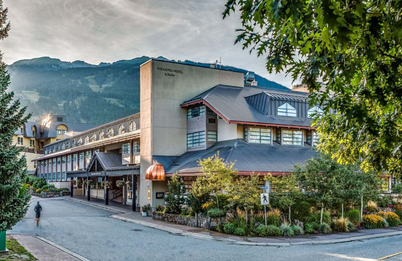 Exterior view of Listel Hotel Whistler.
