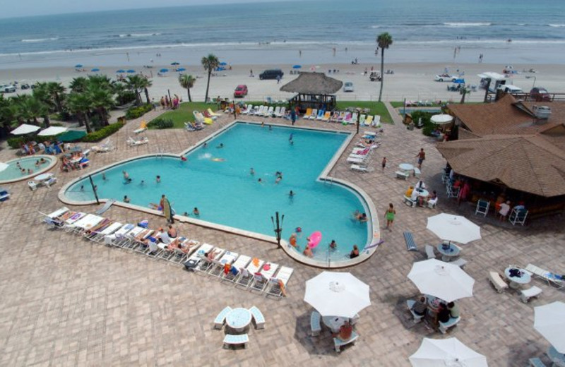 Aerial Pool View at Hawaiian Inn