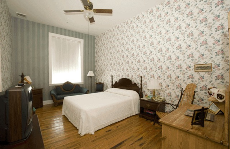 Guest room at The Golden Eagle Inn.