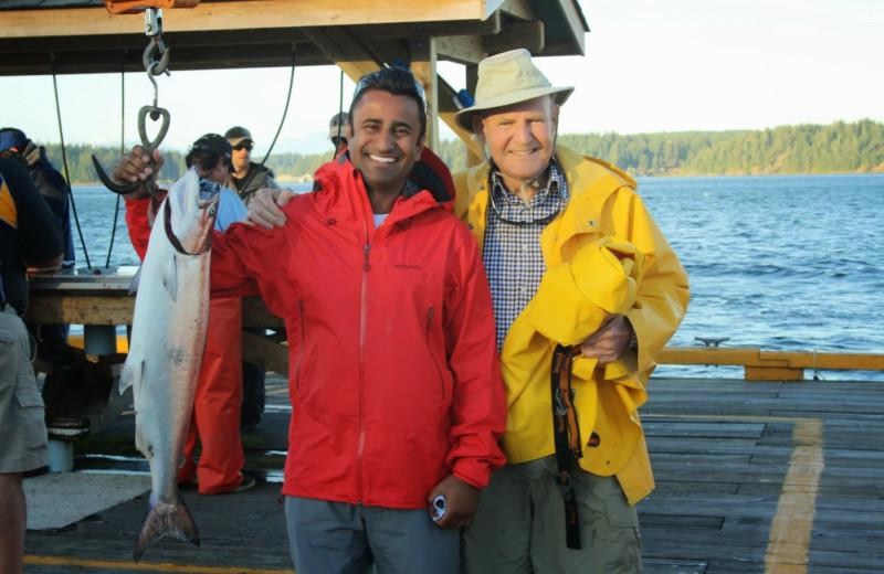 Fishign at Painter's Lodge.