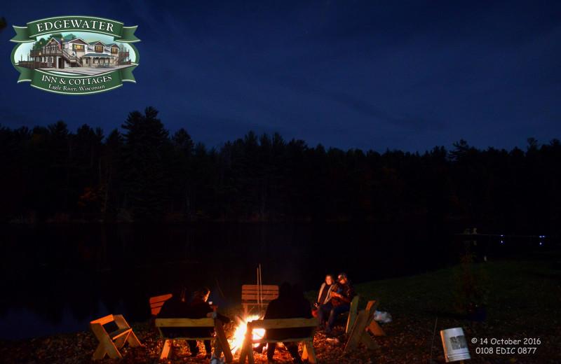 Bonfire at Edgewater Inn & Cottages.