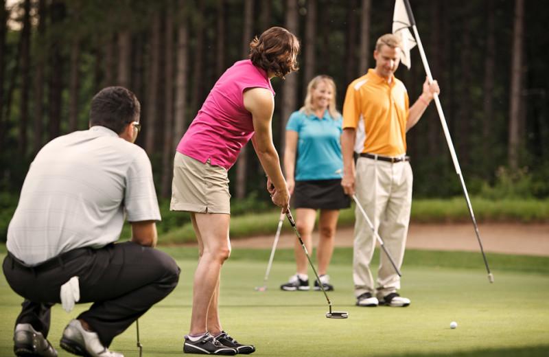 Golf at Crystal Mountain Resort and Spa.