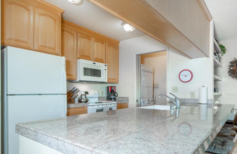 Rental kitchen at Pajaro Dunes Resort.