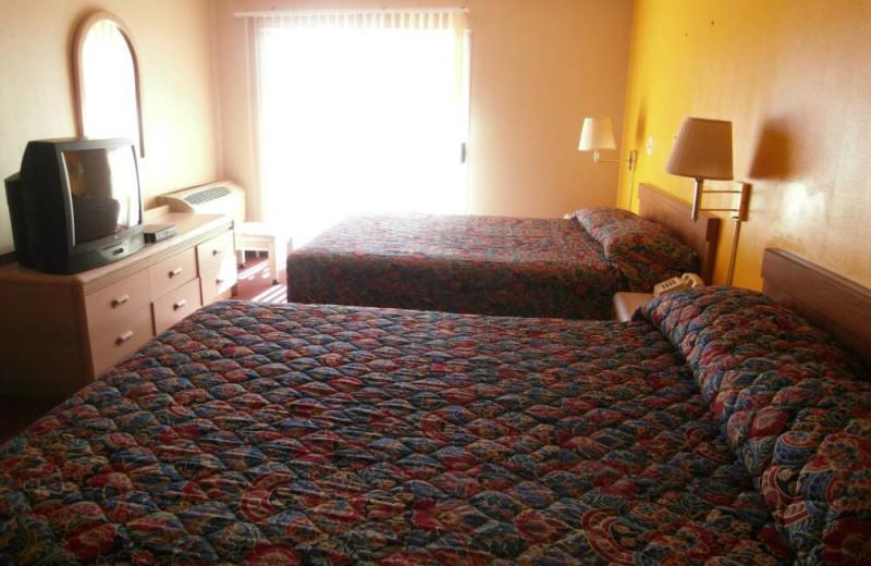 Guest room at Sanatra Inn.
