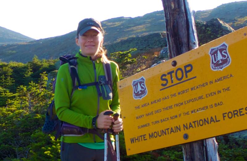 Hiking at North Conway Lodging.