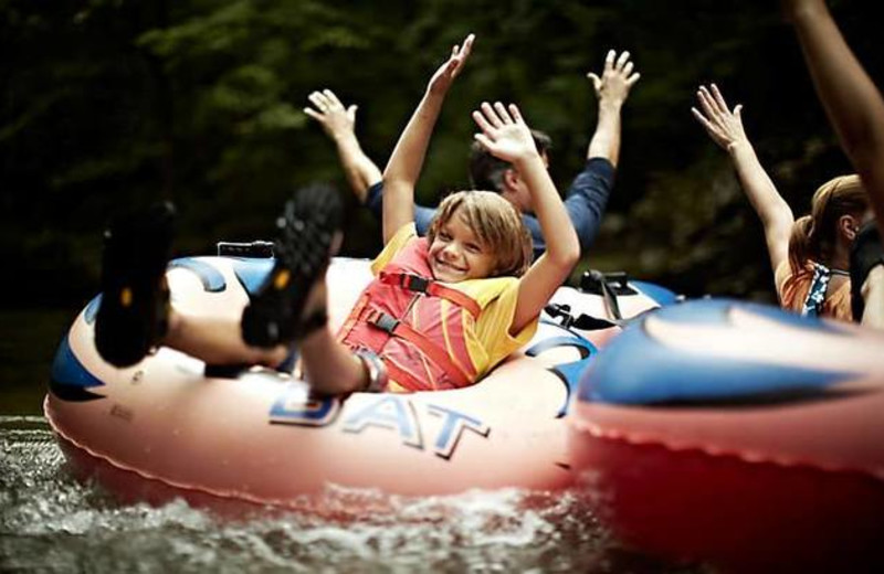 Water tubing at Timber Frame Rentals.