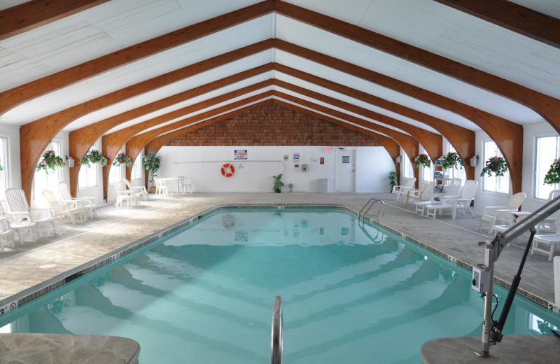 Indoor pool at Windrifter Resort.