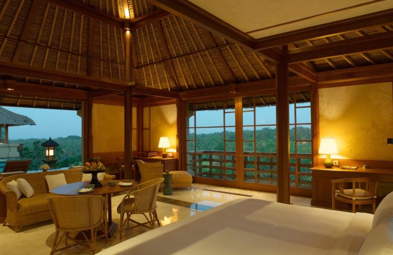 Guest room at Amandari.