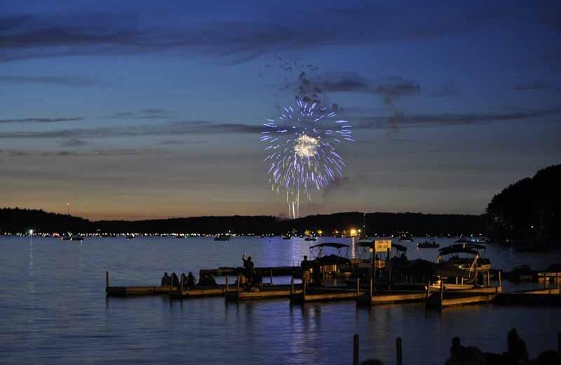 Fireworks at Ehrhardt's Waterfront Resort.