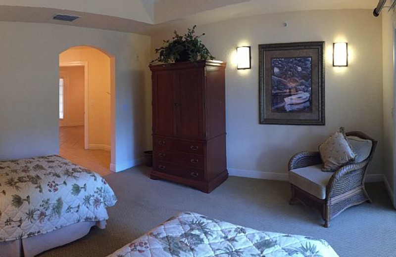 Rental bedroom at Leabridge Vacations.