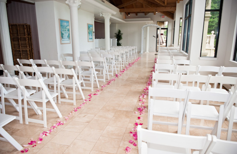 Wedding ceremony at Toftrees Golf Resort and Conference Center.