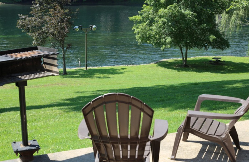 Guest deck at Gaston's White River Resort.