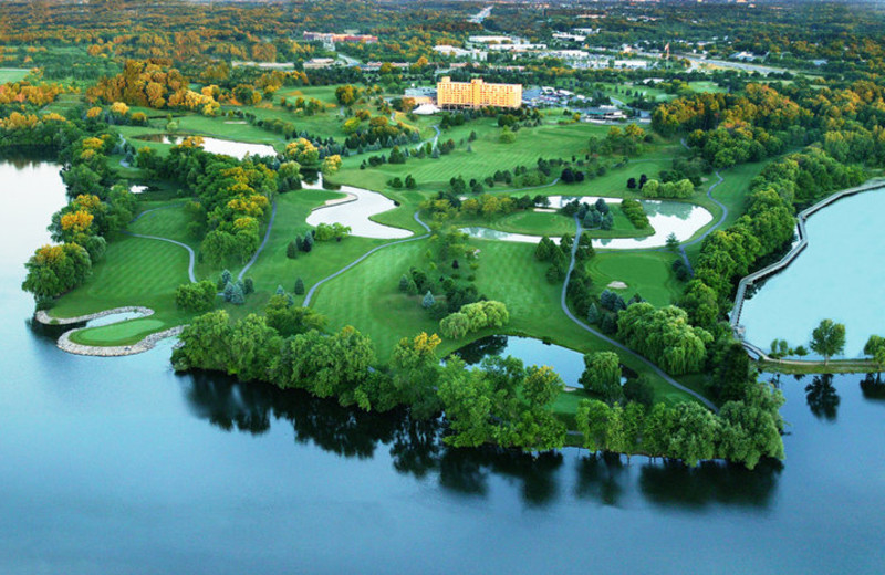 Aerial view of Eagle Crest Resort - Marriott Ann Arbor/Ypsilanti.
