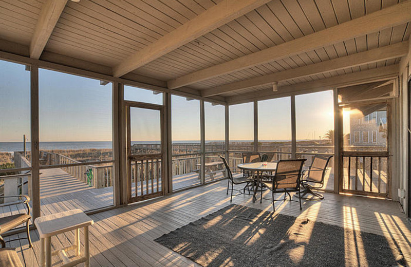 Rental porch at Elliott Beach Rentals.
