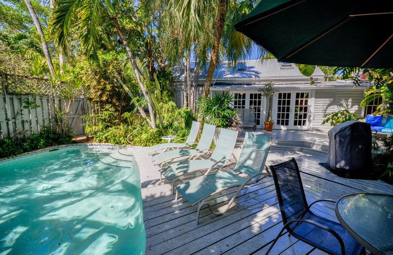 Rental pool at Rent Key West Vacations.