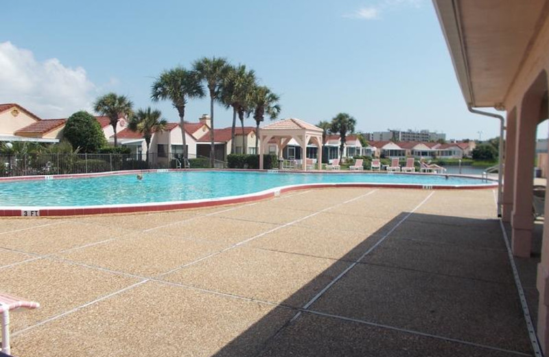 One of two pools and sundeck
