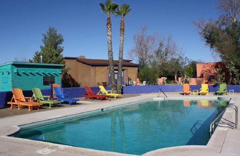 Outdoor pool at Rancho de la Osa Guest Ranch Resort.