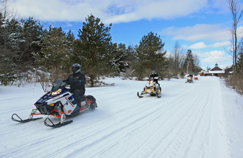 Snowmobiling at Trout Creek Condominium Resort.