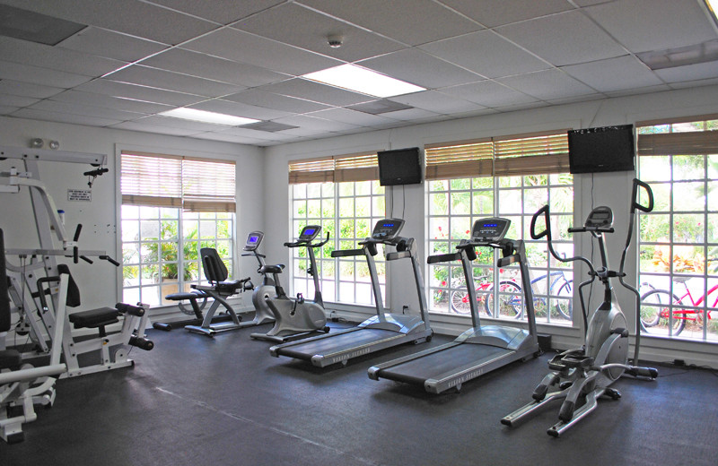 Fitness room at Paradise Island Beach Club.