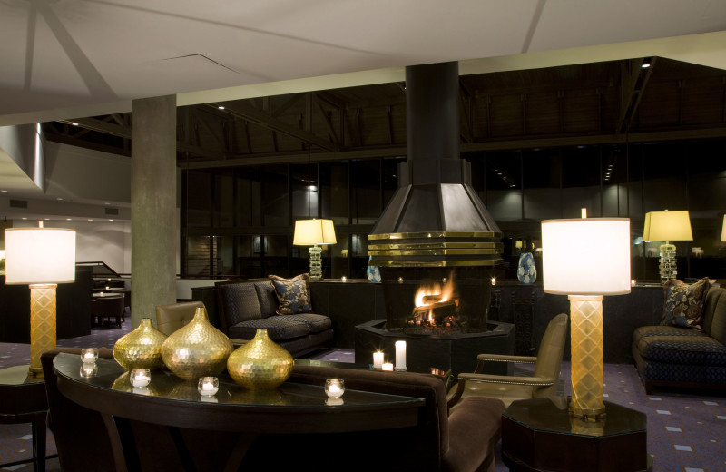 Fireplace lounge at Doral Arrowwood.