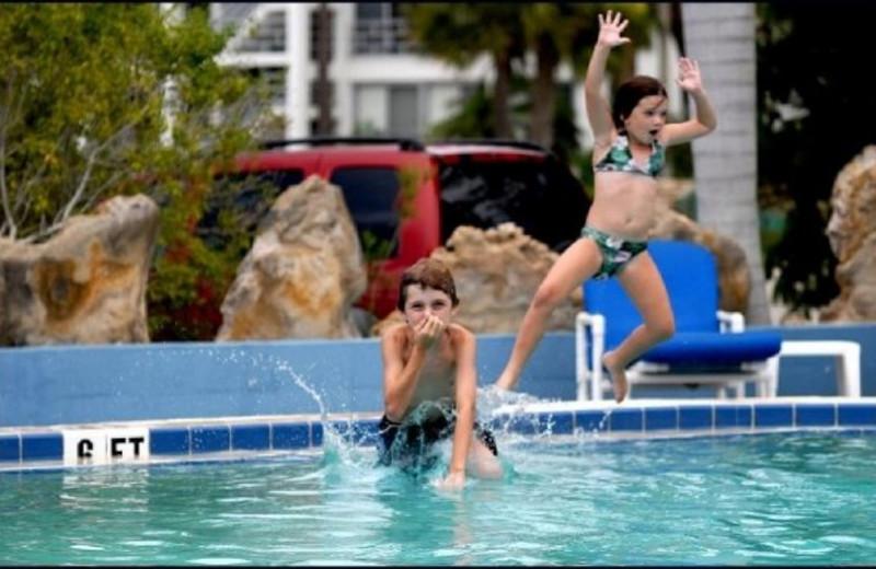 Outdoor pool at Dolphin Inn.