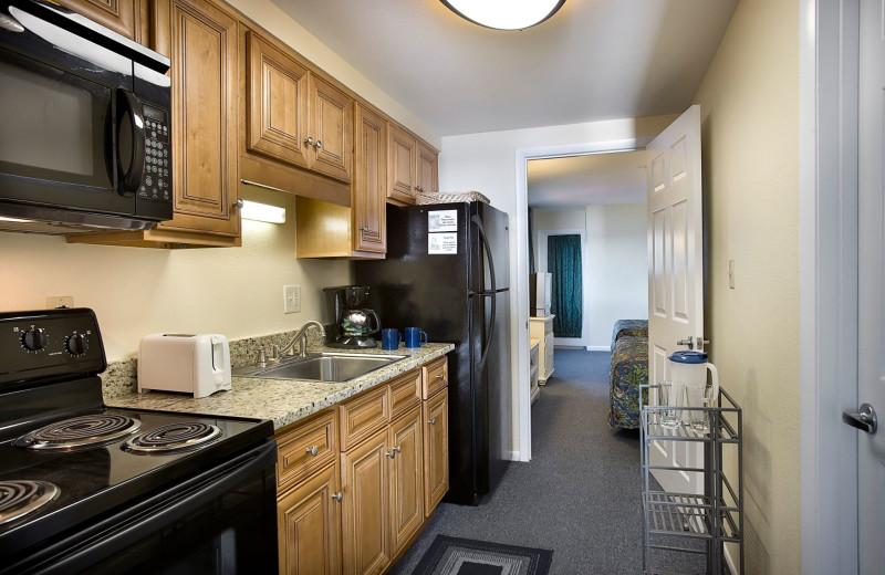 Guest kitchen at Palms Resort.