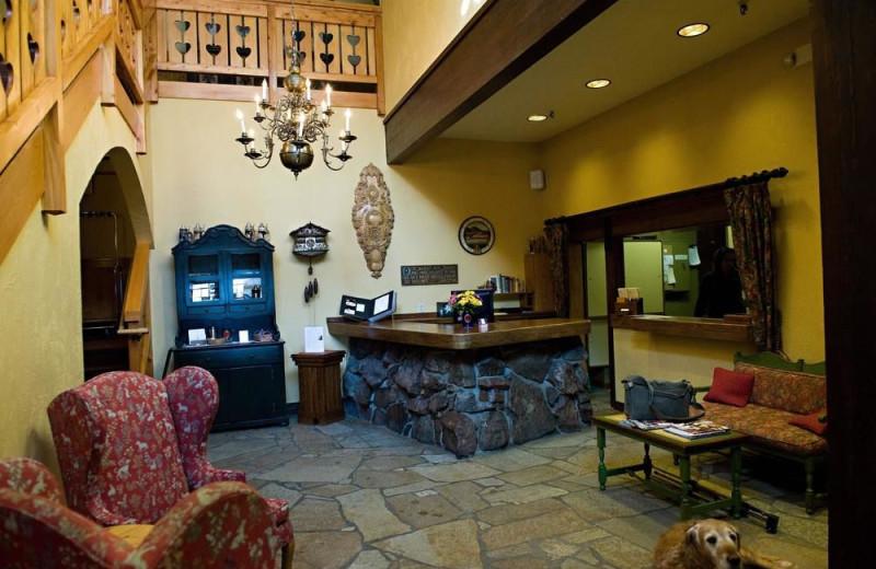 Lobby at Alpenhof Lodge.