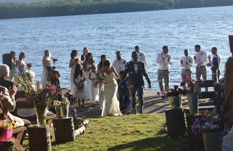 Weddings at Quimby Country Lodge & Cottages.