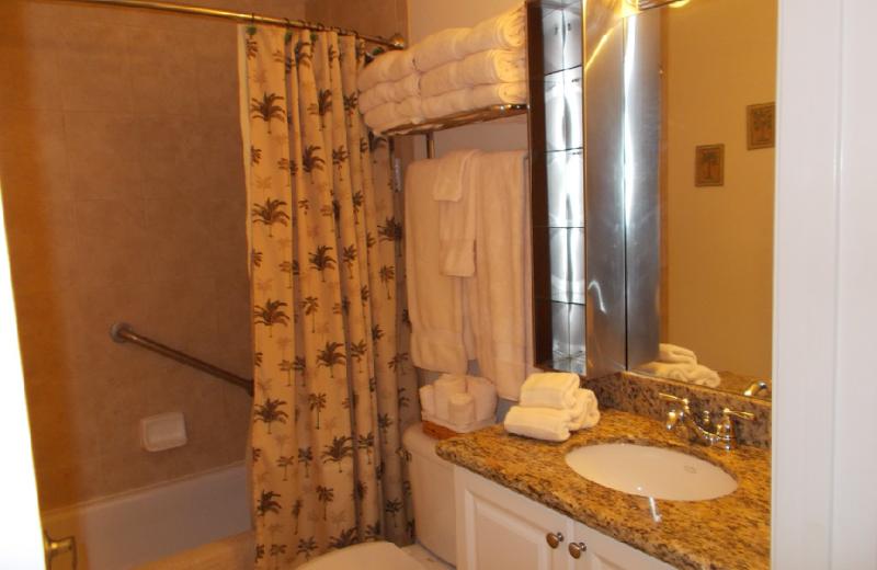 Rental bathroom at Boca Ciega Resort.