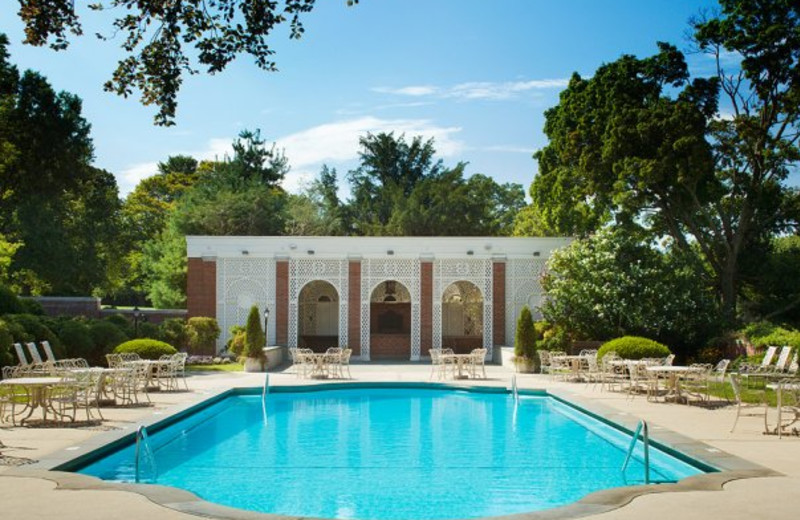 Outdoor pool at Glen Cove Mansion Hotel and Conference Center.