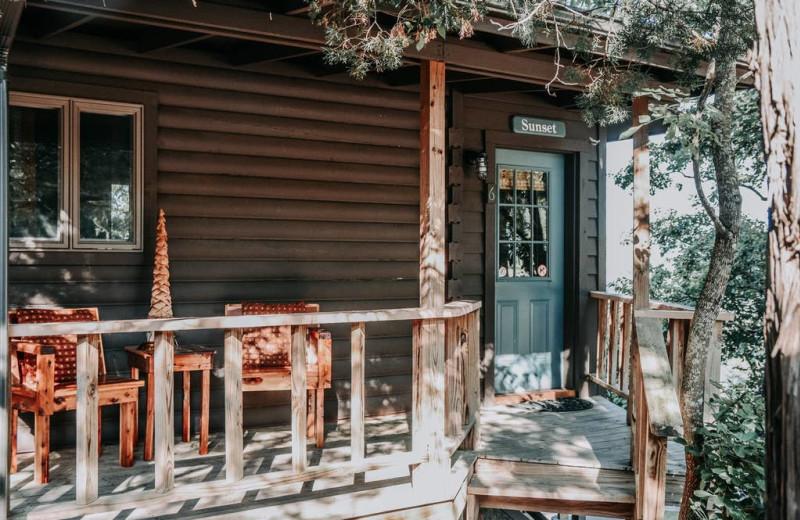 Cabin exterior at Arkansas White River Cabins.
