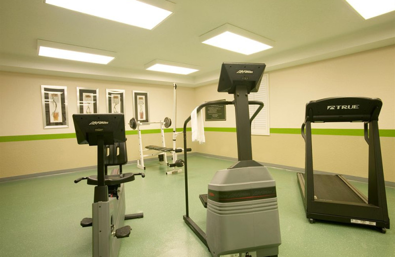 Fitness room at Extended Stay Deluxe Austin.