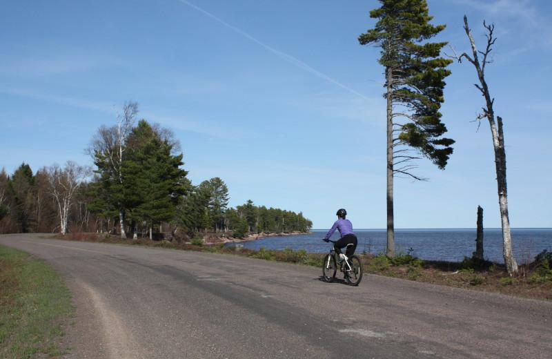 Biking at Aqua Log Cabin Resort.