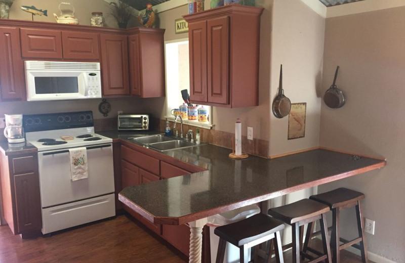 Kitchen at The Secret Cabin.