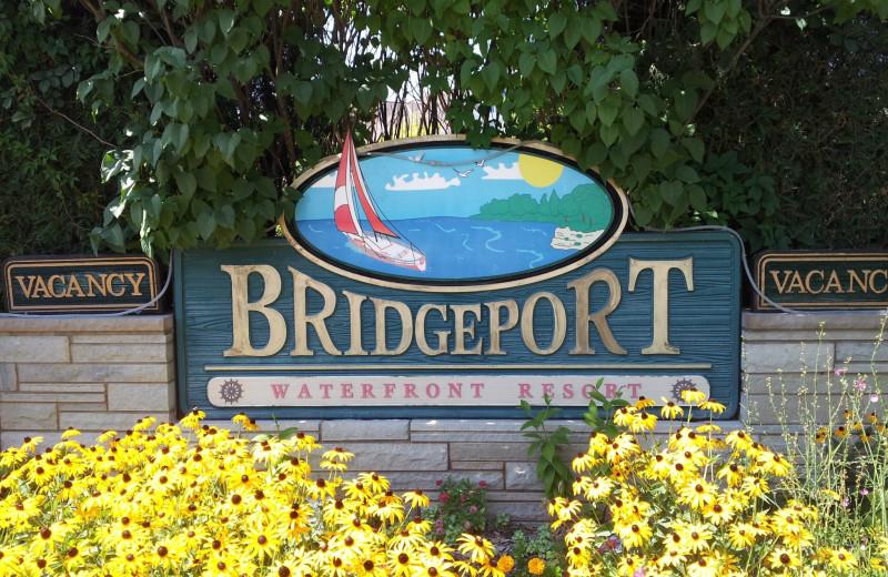 Bridgeport Waterfront Resort sign.