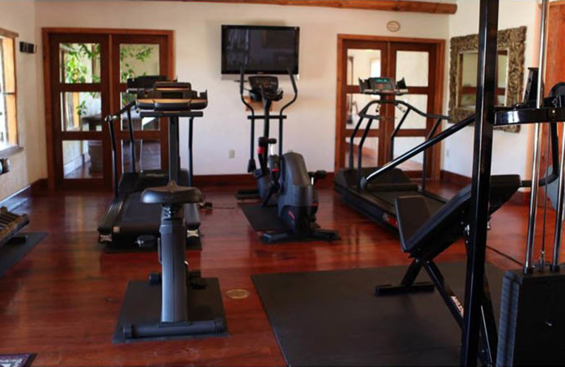 Fitness room at Cibolo Creek Ranch.