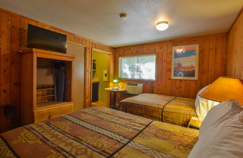 Guest room at Redstone Inn.
