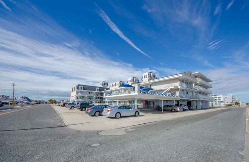 Exterior view of Fleur De Lis Beach Resort.